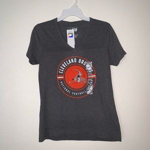 NFL Team Apparel Cleveland Browns V-Neck T-Shirt